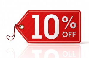 February offer 10% discount, taken off at checkout. No code needed.